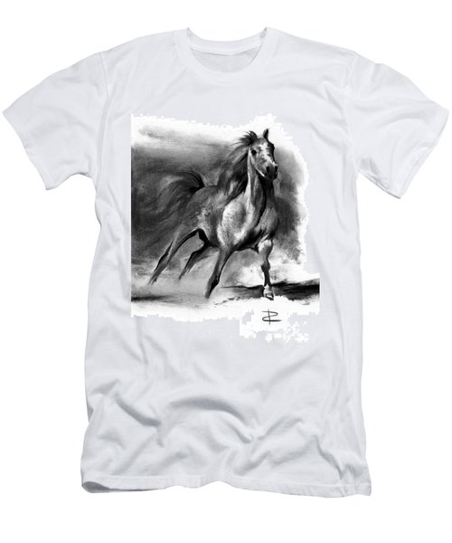 Men's T-Shirt (Slim Fit) featuring the drawing Equine II by Paul Davenport