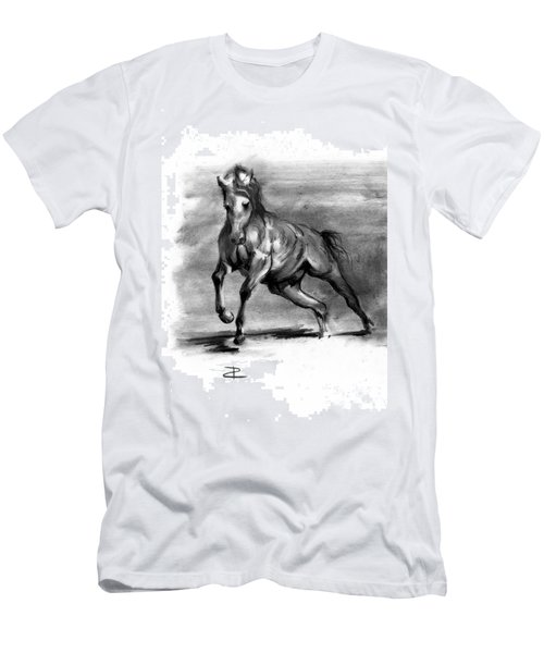 Men's T-Shirt (Slim Fit) featuring the drawing Equine IIi by Paul Davenport