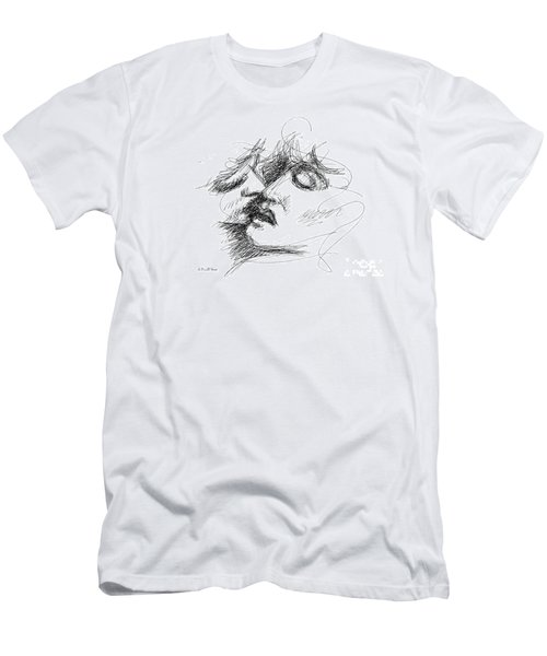 Erotic Art Drawings 15f Men's T-Shirt (Athletic Fit)
