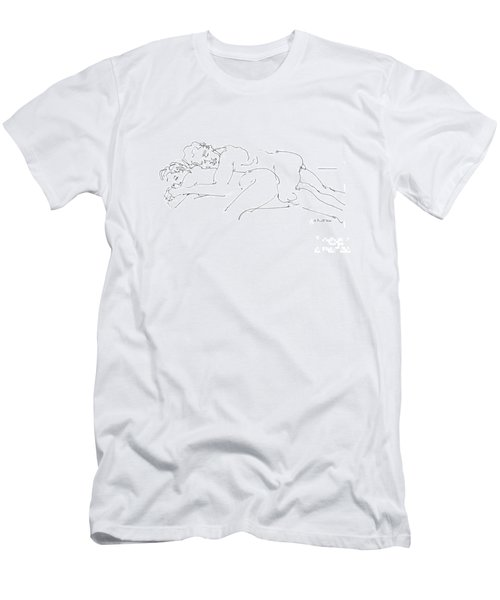Erotic Art Drawings 2 Men's T-Shirt (Athletic Fit)