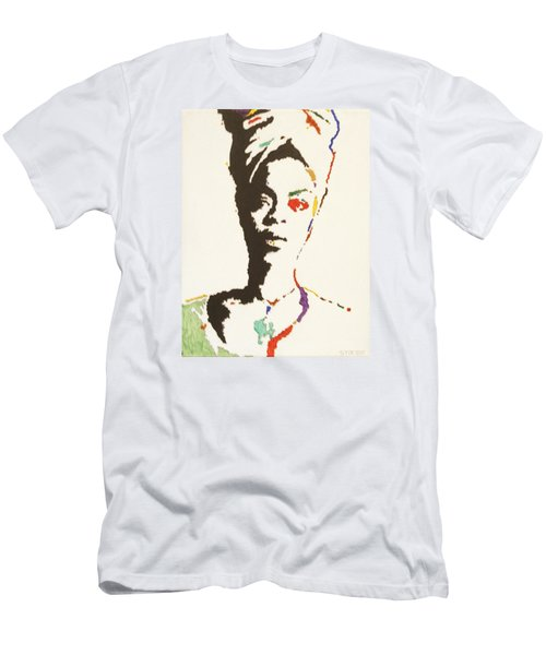 Men's T-Shirt (Slim Fit) featuring the painting Erykah Badu by Stormm Bradshaw