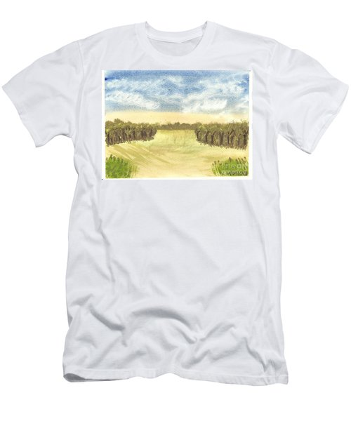 Men's T-Shirt (Slim Fit) featuring the painting Escape To The Country by Tracey Williams