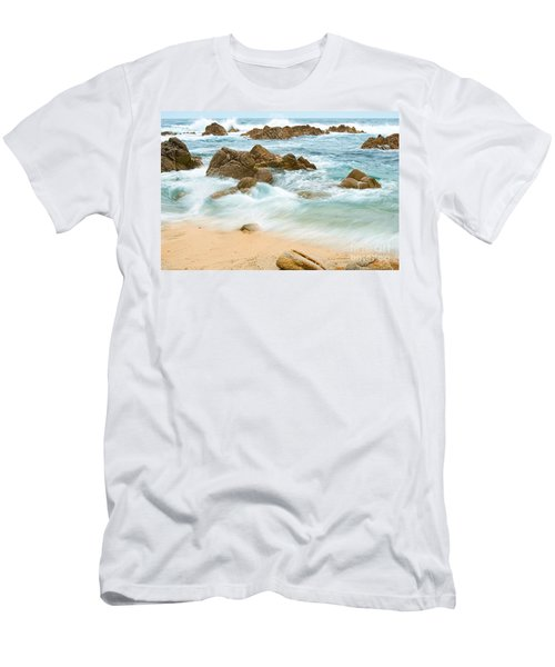 Eternal Waves At Asilomar Beach In Monterey Bay. Men's T-Shirt (Athletic Fit)