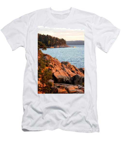 Evening Sun By The Waterfront Men's T-Shirt (Athletic Fit)