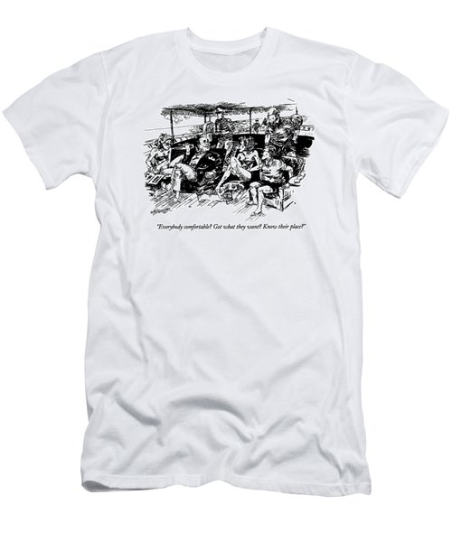 Everybody Comfortable? Got What They Want? Know Men's T-Shirt (Athletic Fit)
