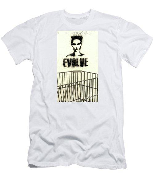 Evolution Gone Wrong Men's T-Shirt (Slim Fit) by Joe Jake Pratt