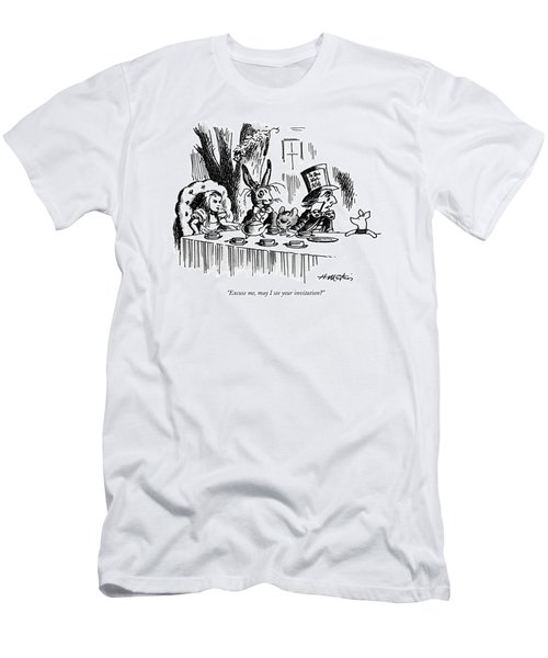 Excuse Me, May I See Your Invitation? Men's T-Shirt (Athletic Fit)