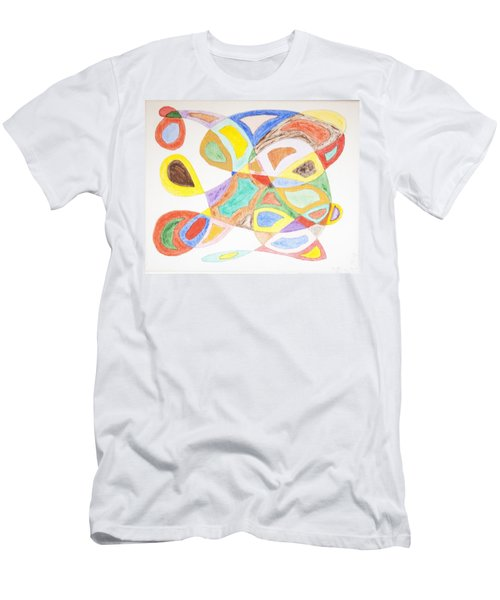 Men's T-Shirt (Slim Fit) featuring the painting Masks by Stormm Bradshaw