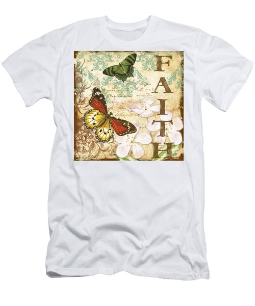 Faith And Butterflies Men's T-Shirt (Athletic Fit)