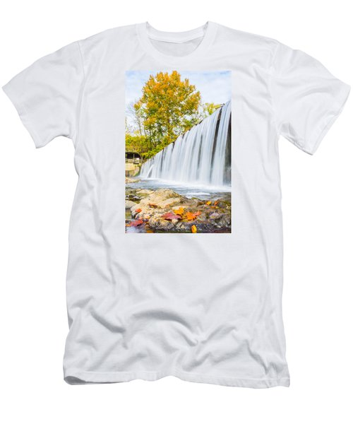 Fall At Buck Creek Men's T-Shirt (Slim Fit) by Parker Cunningham