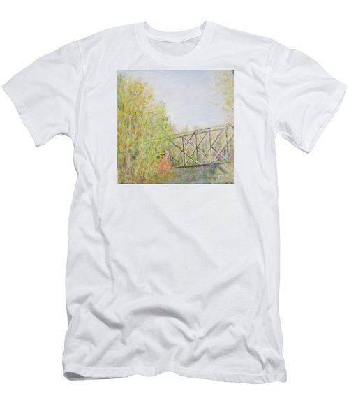 Fall Foliage And Bridge In Nh Men's T-Shirt (Athletic Fit)