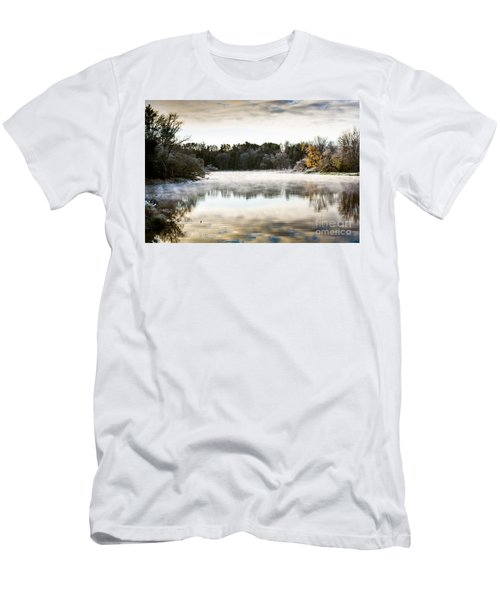 Fall Scene On The Mississippi Men's T-Shirt (Slim Fit) by Cheryl Baxter