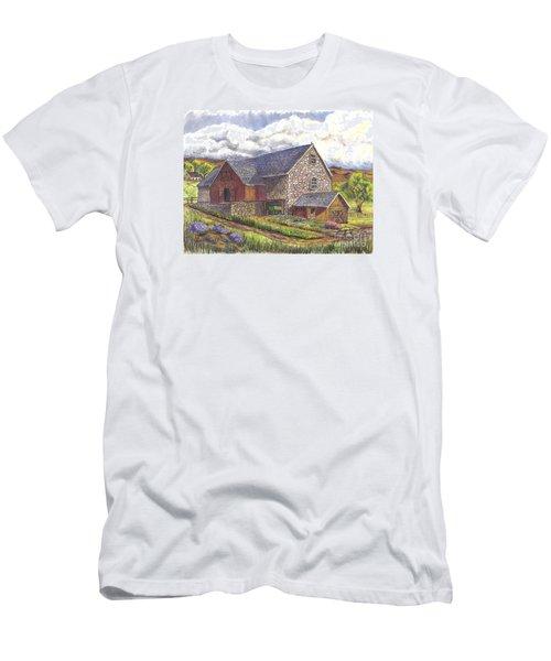 A Scottish Farm  Men's T-Shirt (Slim Fit) by Carol Wisniewski