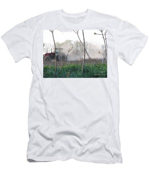Men's T-Shirt (Slim Fit) featuring the photograph Farm Life  by Michael Krek