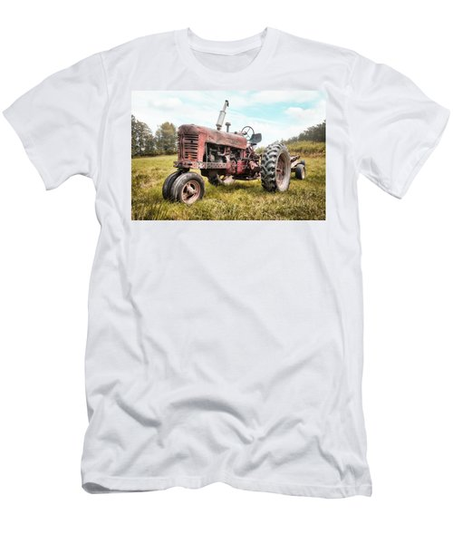 Farmall Tractor Dream - Farm Machinary - Industrial Decor Men's T-Shirt (Athletic Fit)