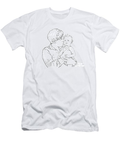 Men's T-Shirt (Slim Fit) featuring the drawing Father And Son by Olimpia - Hinamatsuri Barbu