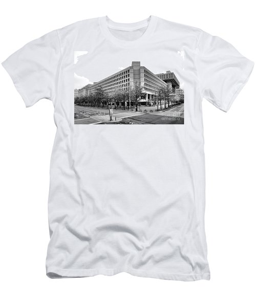 Fbi Building Front View Men's T-Shirt (Athletic Fit)