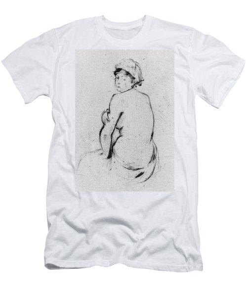 Female Nude Seen From Behind Men's T-Shirt (Athletic Fit)
