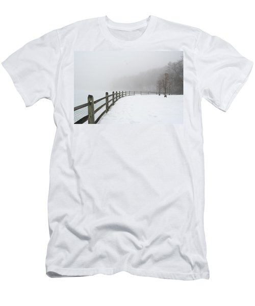 Fence In Fog Men's T-Shirt (Athletic Fit)