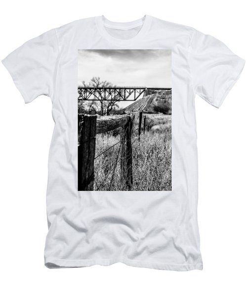 Fence Line Men's T-Shirt (Athletic Fit)