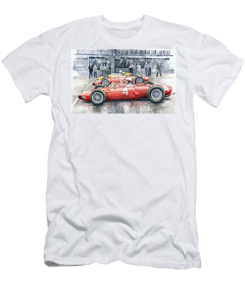 Ferrari 156 Sharknose 1961 Belgian Gp Men's T-Shirt (Athletic Fit)