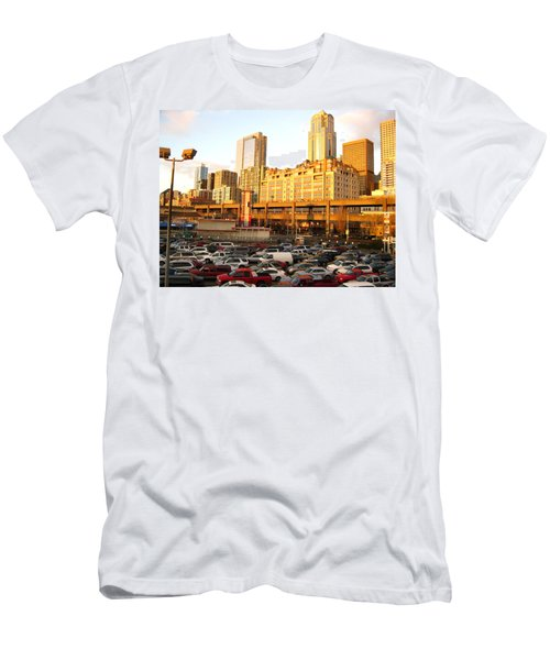 Ferry Lines At Sunset Men's T-Shirt (Athletic Fit)