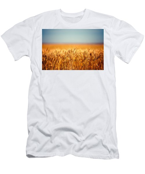 Men's T-Shirt (Athletic Fit) featuring the photograph Field Of Wheat by Todd Klassy