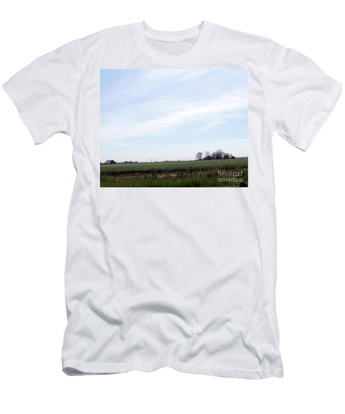 Men's T-Shirt (Slim Fit) featuring the photograph Fields Of Source by Bobbee Rickard