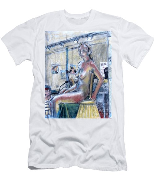 Figure Drawing- Primary Colors  Men's T-Shirt (Slim Fit) by Samantha Geernaert