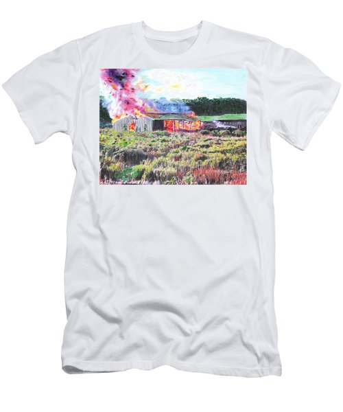 Fire At Whitney Beef Men's T-Shirt (Athletic Fit)