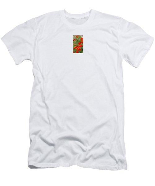 Fire Flowers Men's T-Shirt (Athletic Fit)