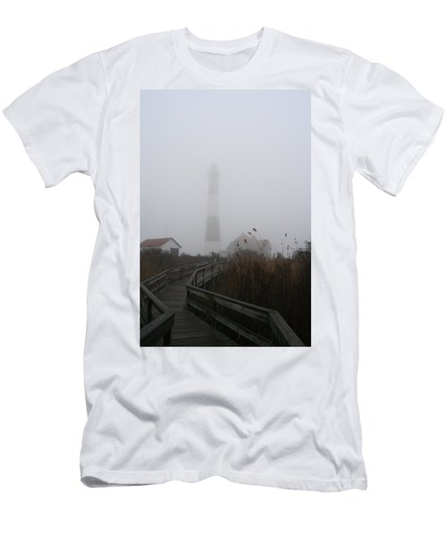 Fire Island Lighthouse In Fog Men's T-Shirt (Athletic Fit)