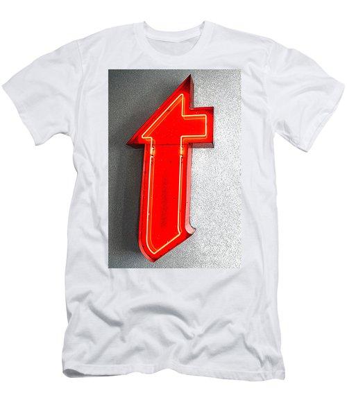 Firestone Building Red Neon T Men's T-Shirt (Athletic Fit)