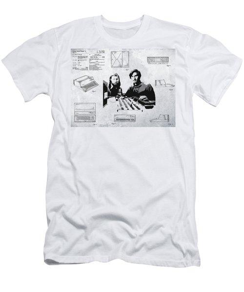 First Apple P C Patent Men's T-Shirt (Athletic Fit)