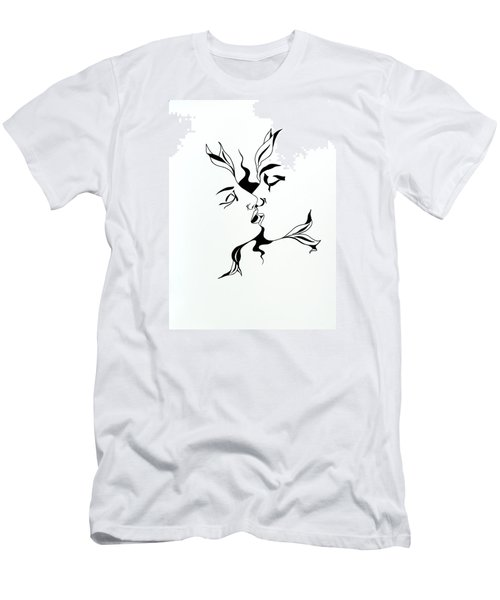 First Kiss Men's T-Shirt (Slim Fit) by Yelena Tylkina
