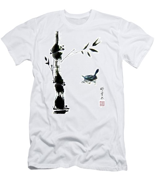 Men's T-Shirt (Slim Fit) featuring the painting First Reflection by Bill Searle