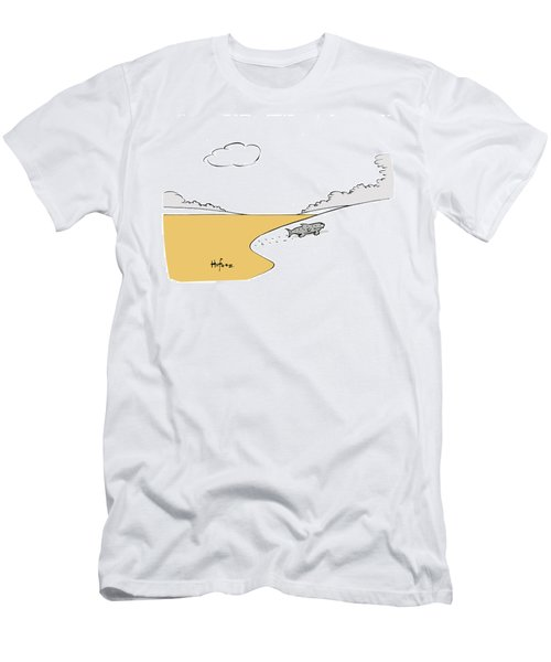 Fish Walking Out Of Toxic Water Men's T-Shirt (Athletic Fit)