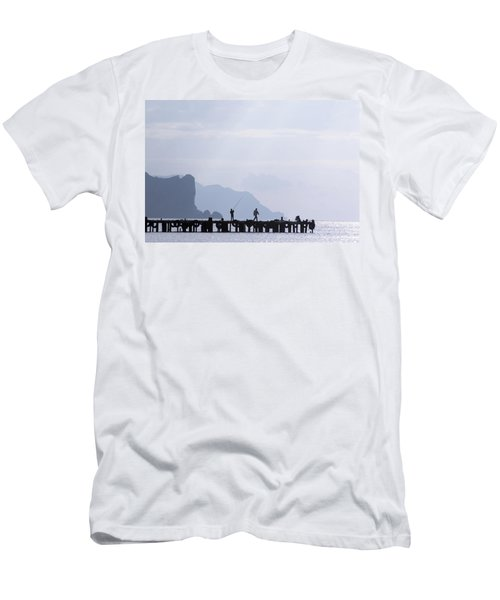 Fisherman At The Pier Men's T-Shirt (Athletic Fit)