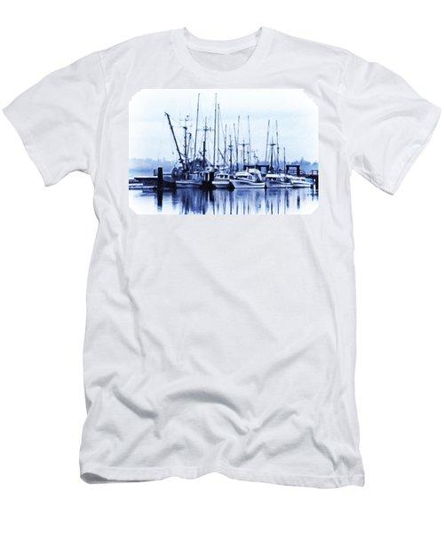 Fishers' Wharf Men's T-Shirt (Slim Fit) by Richard Farrington
