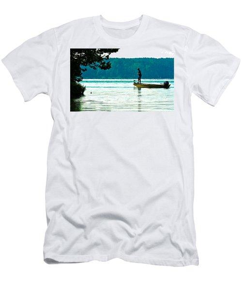 Fishing Crab Orchard Lake Men's T-Shirt (Athletic Fit)