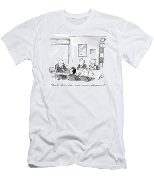 Five People Sit Around A Conference Table Men's T-Shirt (Athletic Fit)