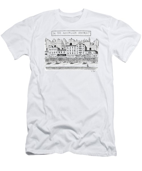 Five Stores On A Street Make-up The Nostalgia Men's T-Shirt (Athletic Fit)