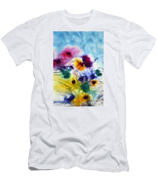 Fleurs Men's T-Shirt (Slim Fit) by Joan Hartenstein