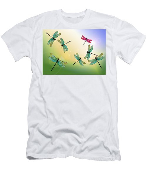 Flight Of The Scarlet Lady Men's T-Shirt (Athletic Fit)