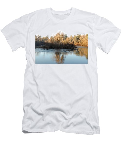 Men's T-Shirt (Slim Fit) featuring the photograph Flint River 27 by Kim Pate