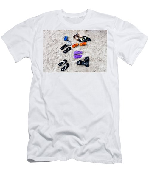 Flip Flops On The Beach Men's T-Shirt (Athletic Fit)