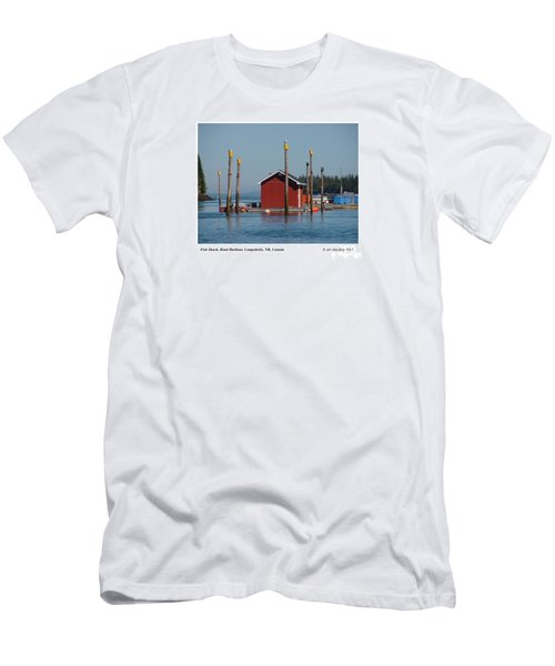 Floating Fish Shack Bay Of Fundy Nb Men's T-Shirt (Athletic Fit)