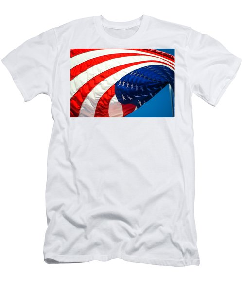 Floating Flag  Men's T-Shirt (Athletic Fit)