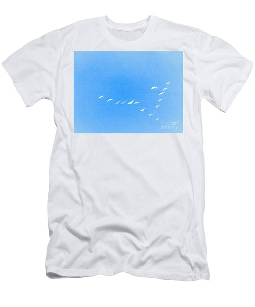Flocking Geese  Men's T-Shirt (Athletic Fit)
