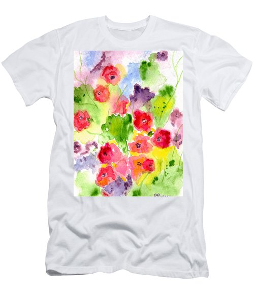 Floral Fantasy Men's T-Shirt (Slim Fit) by Paula Ayers